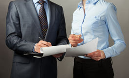 Businessman signing contract/document Royalty Free Stock Photo