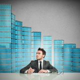 Businessman signing the contract Royalty Free Stock Photo