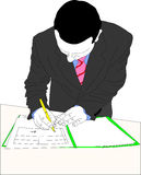 Businessman signing document Royalty Free Stock Photo