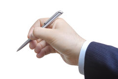 Businessman signing papers Stock Photography