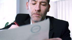 Businessman signs contract Stock Photo