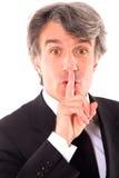 Businessman silence Stock Photos