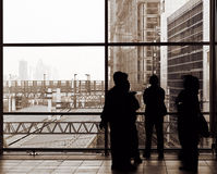 Businessman silhouette Royalty Free Stock Images