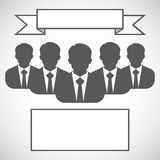 Businessman silhouette avatar profile picture group, team, Royalty Free Stock Images