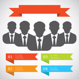 Businessman silhouette avatar profile picture group, team, Royalty Free Stock Photo