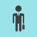 Businessman silhouette with briefcase Stock Photography