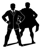 Super Hero Businessman Silhouette royalty free illustration