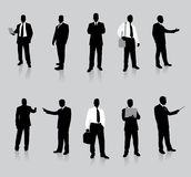 Businessman Silhouette Collection Stock Image