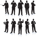 Businessman Silhouette Collection Royalty Free Stock Image