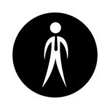 Businessman silhouette isolated icon. Vector illustration design Royalty Free Stock Image