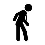 Businessman silhouette isolated icon Royalty Free Stock Image