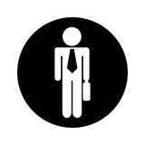 Businessman silhouette isolated icon Royalty Free Stock Photography