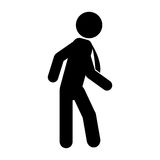 Businessman silhouette isolated icon Stock Image