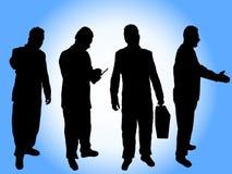 Businessman silhouettes royalty free stock photos