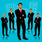 Businessman, silhouettes, business, people, team work, vector, flat Royalty Free Stock Images