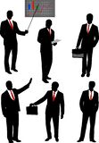 Businessman silhouettes collection