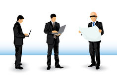 Businessman silhouettes Stock Photography
