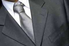 Businessman in silver tie Stock Image