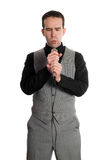 Businessman Singing Royalty Free Stock Photo