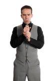 businessman singing Στοκ φωτογραφία με δικαίωμα ελεύθερης χρήσης