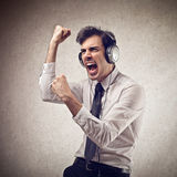 Businessman singing Royalty Free Stock Image