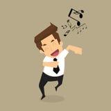 Businessman singing. Businessman run singing.vector.eps10 Royalty Free Stock Photo