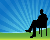 Businessman Sitting Stock Photo