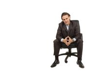 Businessman sitting royalty free stock photos