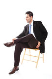 Businessman sitting Royalty Free Stock Photo