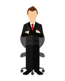 Businessman sitting in a chair  isolated icon design Royalty Free Stock Image