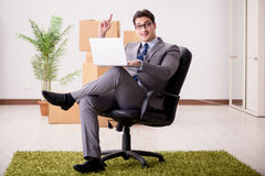 The businessman sitting on the chair in office Royalty Free Stock Images