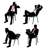 Businessman sitting Royalty Free Stock Images