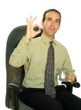 Businessman Sitting With Coffee Stock Image