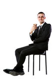 Businessman sitting with cup of coffee Stock Photo