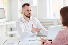 Interview at office Stock Photos