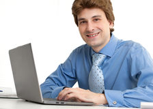 Businessman sitting in office Royalty Free Stock Photography
