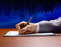 Businessman sitting at office Royalty Free Stock Photography