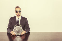 Businessman sitting at office desk Stock Photography