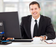 Businessman sitting office Stock Photo
