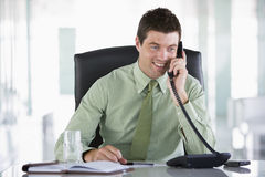 Businessman sitting in officei Stock Photo