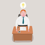 Businessman is sitting relaxed get ideas. Royalty Free Stock Photos