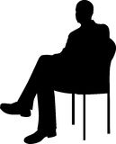 Businessman Sitting Silhouette Royalty Free Stock Photos