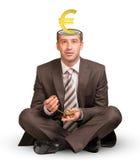Businessman sitting on white Stock Photos