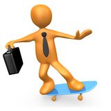 Businessman On Skateboard Stock Images