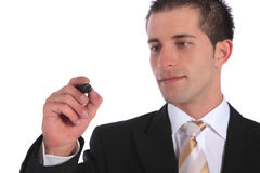 Businessman sketching Stock Images