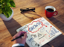 Businessman Sketching About Growth Royalty Free Stock Photo