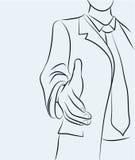 Businessman sketchy illustration Royalty Free Stock Images
