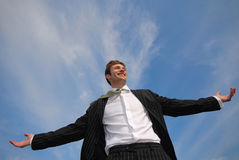 Businessman and sky Stock Image