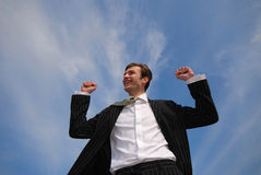 Businessman and sky Royalty Free Stock Photography