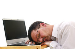 Businessman sleep Stock Photos